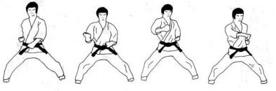 Karate: golpes de puño  Kagi-zuki